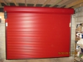 Gararoll roller doors in red