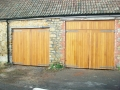 Oak side hinged doors with automation kits
