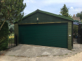 Garador Gararoll Automated roller door in Moss Green