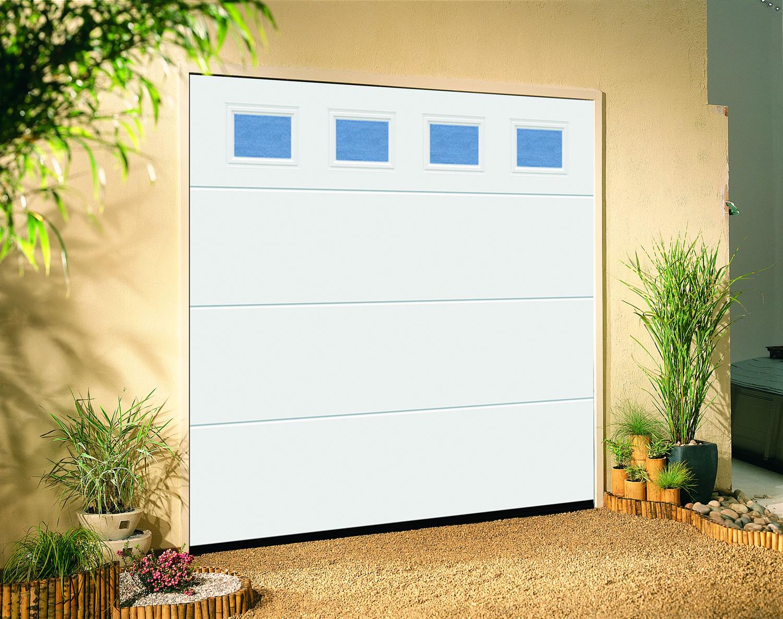 Linear Large Windows Traffic White Dorset Garage Doors